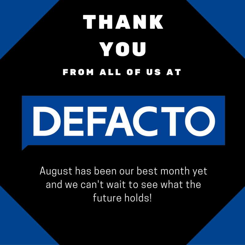 Defacto Dentists want to thank you!